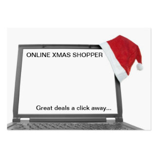 online christmas shopping concept large business card