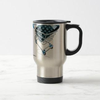 Online comparison concept coffee mug