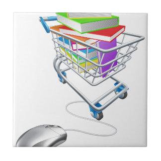 Online education or internet book shopping ceramic tile