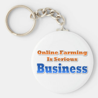 Online Farming Basic Round Button Keychain