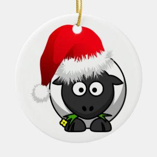 Online Farming Christmas Sheep Ceramic Ornament