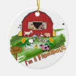 Online Farming Farmaholic Ornament