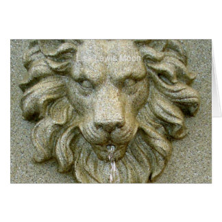 Online Fountain Lion Greeting Cards