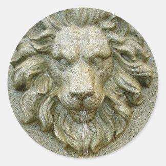 Online Fountain Lion Sticker