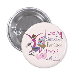 Online Friends Pinback Buttons