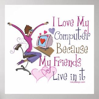 Online Friends Poster Print