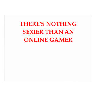 online gaming postcard