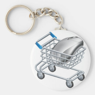 Online internet shopping concept keychains