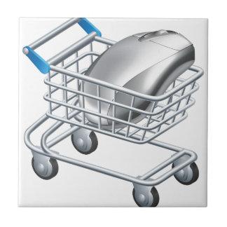 Online internet shopping concept ceramic tile