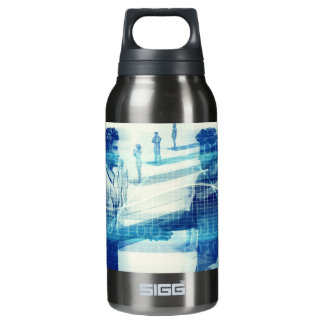 Online Meeting for Business with Men Shaking Hands Insulated Water Bottle
