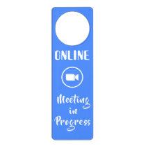 Online Meeting in Progress Door Hanger
