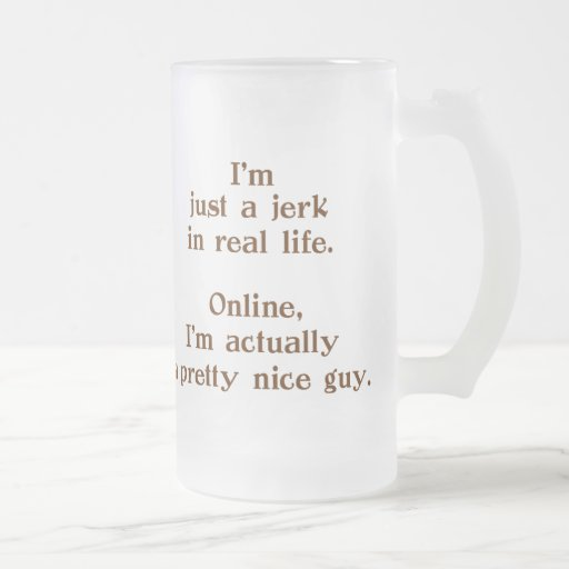 Online Nice Guy 16 Oz Frosted Glass Beer Mug