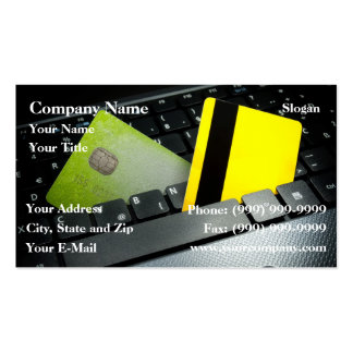 Online payment business card templates