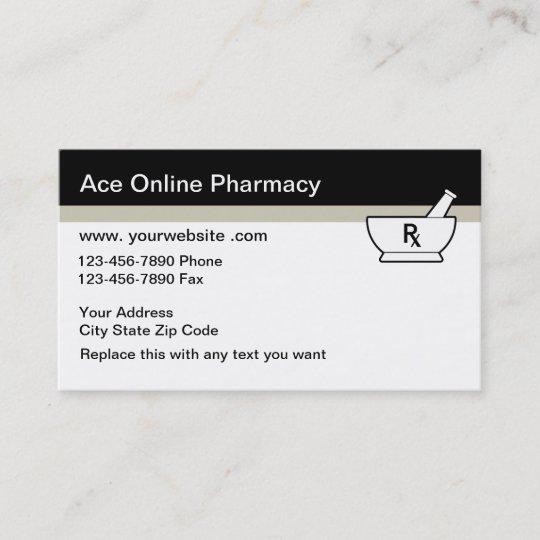Online Pharmacy Business Cards Zazzle