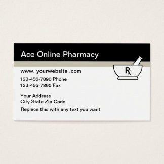 Online Pharmacy Business Cards