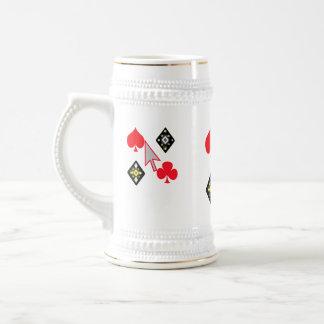 online poker 18 oz beer stein
