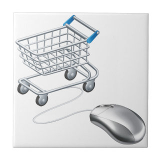 Online shopping cart mouse ceramic tiles