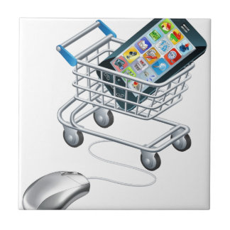 Online shopping for phone tile