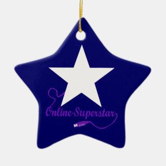 Online superstar ceramic ornament