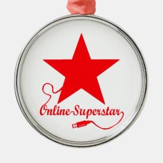 Online superstar metal ornament