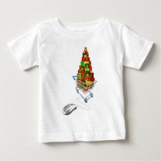 Online web Christmas shopping T-shirt