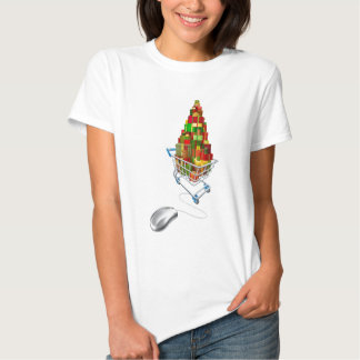 Online web Christmas shopping Tees