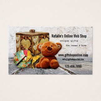Online Web Gift Store Business Card