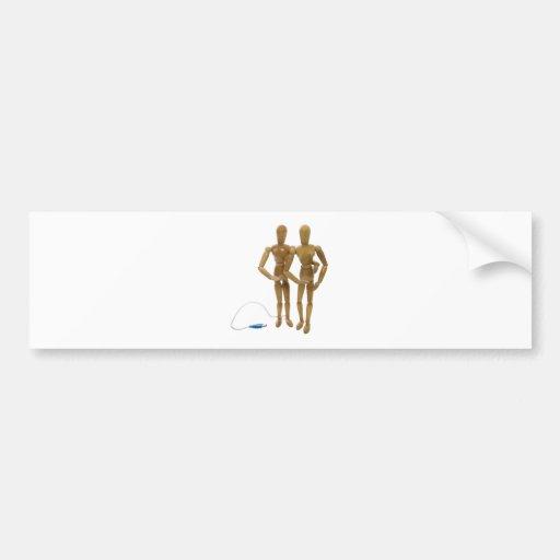 OnlineDatingCouple050809 Bumper Sticker