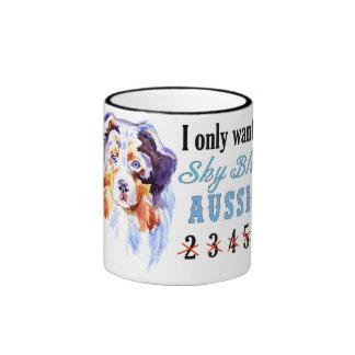 Only 1 Sky Blue Aussie Mug