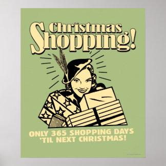 Only 365 Shopping Days 'Til Next Christmas Poster