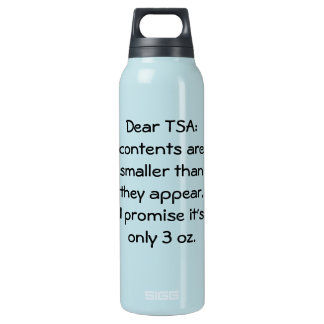 Only 3 oz insulated water bottle