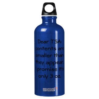 Only 3 oz SIGG traveler 0.6L water bottle