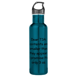 Only 3 oz water bottle