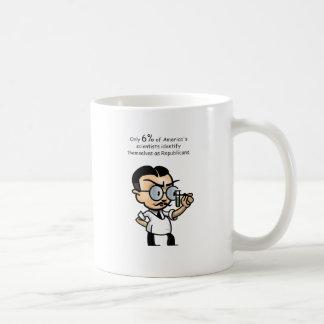 Only 6% of America's scientists identify Coffee Mug