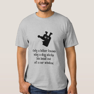 Only a biker knows tee shirt