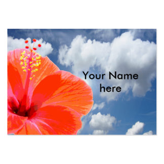 Only a Hibiscus Blossom + your text & ideas Large Business Card