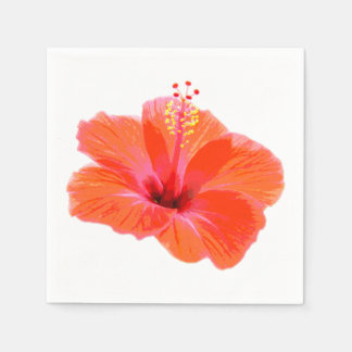 Only a Hibiscus Blossom + your text & ideas Disposable Napkins