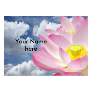 Only a Lotus Blossom + your text & ideas Large Business Card