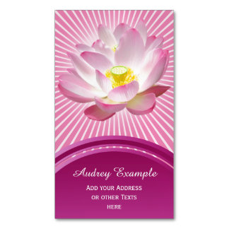 Only a Lotus Blossom + your text & ideas Magnetic Business Card