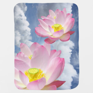 Only a Lotus Blossom + your text & ideas Stroller Blankets