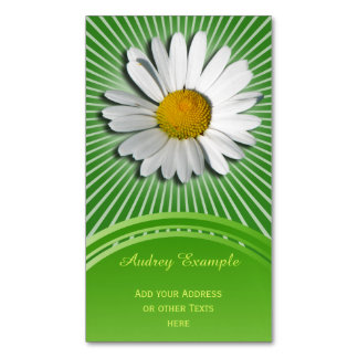 Only a Marguerite Blossom + your backgr. & ideas Business Card Magnet
