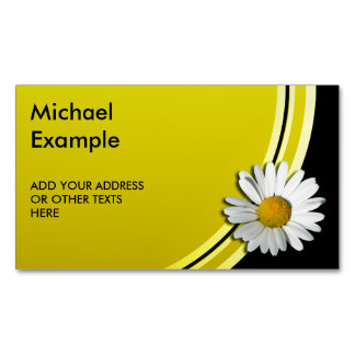 Only a Marguerite Blossom + your backgr. & ideas Magnetic Business Card