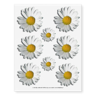 Only a Marguerite Blossom + your backgr. & ideas Temporary Tattoos