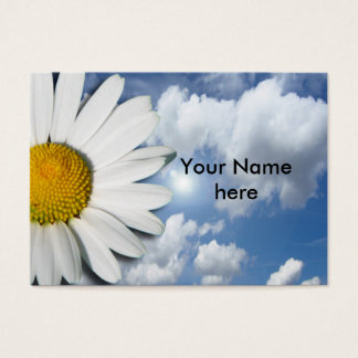 Only a Marguerite Blossom + your text & ideas Business Card