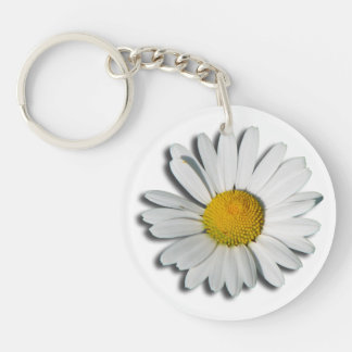 Only a Marguerite Blossom + your text & ideas Keychain