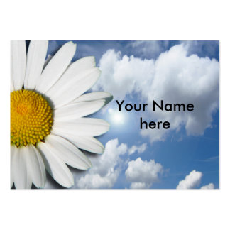 Only a Marguerite Blossom + your text & ideas Large Business Card