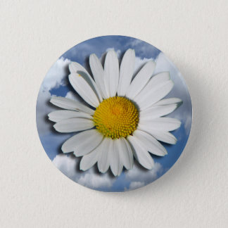 Only a Marguerite Blossom + your text & ideas Pinback Button