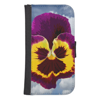 Only a Pansy Blossom + your text & ideas Samsung S4 Wallet Case
