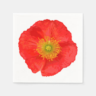 Only a Poppy Blossom + your text & ideas Standard Cocktail Napkin