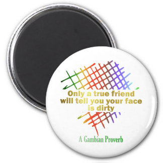 Only A Real Friend Series 2 Inch Round Magnet